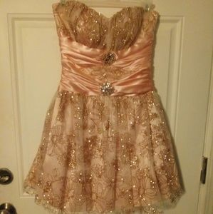 Dab pink princess prom dress
